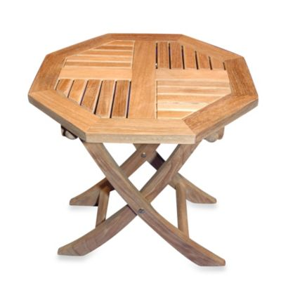 Teak Octagonal Side Table