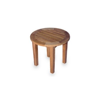 Teak Round End Table