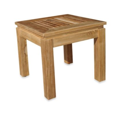 Teak Square Side Table