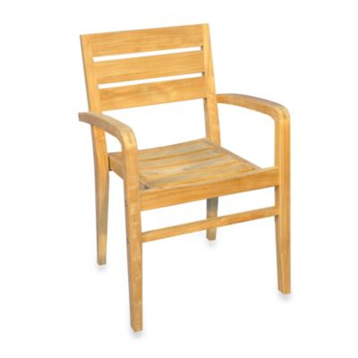 Teak Ventura Stacking Chair