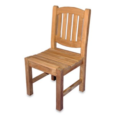 Teak Boston Oval Back Side Chair