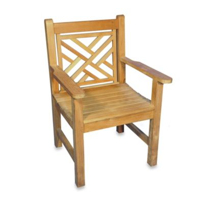 Teak Chippendale Dining Chair with Arms