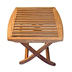 Teak Folding End Table/Foot Stool