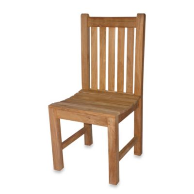 Teak Block Island Side Chair