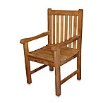 Teak Block Island Dining Chair with Arms