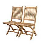 Teak Rockport Folding Dining Chair without Arms
