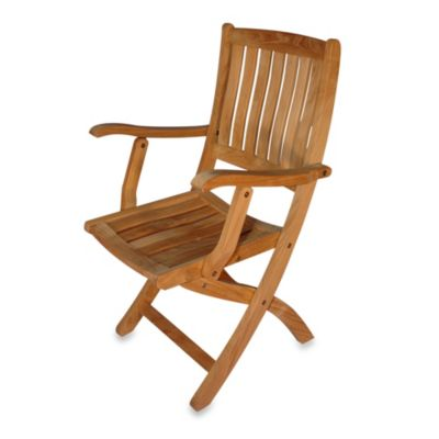 Teak Providence Folding Dining Chair with Arms