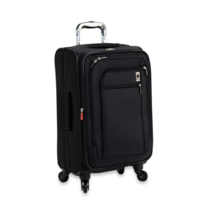DELSEY Helium Sky 21 Inches Expandable Spinner Suiter Carry-On Trolley in Black