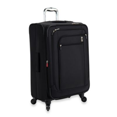 DELSEY Helium Sky 25-Inch Expandable Spinner Suiter Trolley in Black