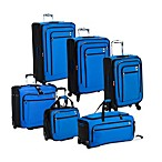 DELSEY Helium Sky Expandable Spinner Trolley Collection in Blue