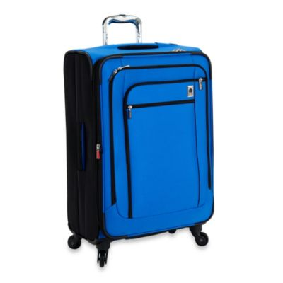 DELSEY Helium Sky 25-Inch Expandable Spinner Suiter Trolley in Blue