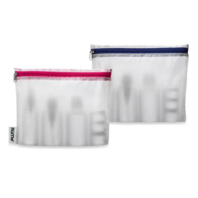 Reveal Travel Bags in Pink (Set of 2)