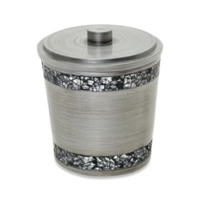 Omni Cotton Ball Holder in Pewter
