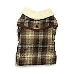 Pet Plaid Brown Coats