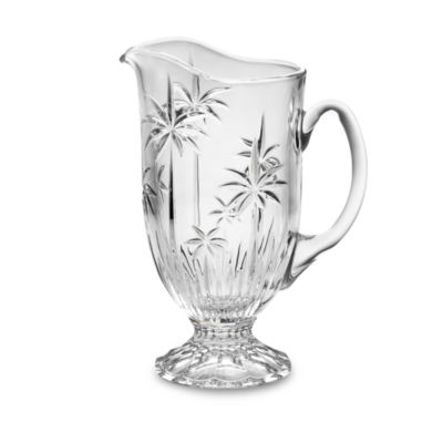 Godinger Dublin Crystal South Beach Palm 44-Ounce Pitcher