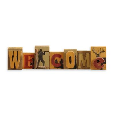 MDF Table Top 'WELCOME' Sign Décor