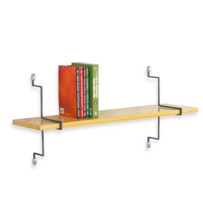ASSA Design 32-Inch Single Bamboo Shelf Kit in Grey