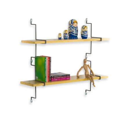 ASSA Design 32-Inch Bamboo Shelf Kit in Grey