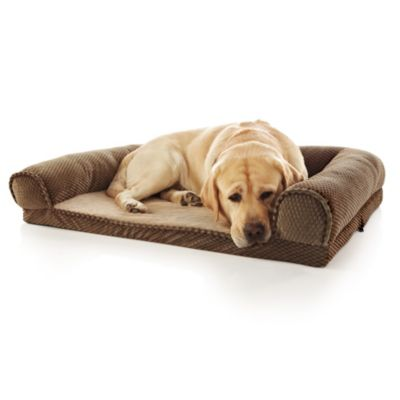 Paws Life™ Brown Orthopedic Rectangle Bolster Bed in Brown