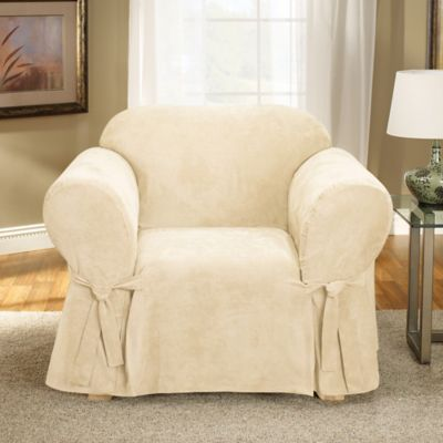 Sure Fit® Soft Suede Chair Slipcover