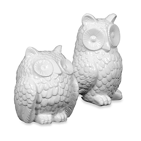 Urban Trends White Ceramic Owl Figurine Bed Bath Beyond