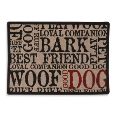 Typography Tapestry Pet Rug