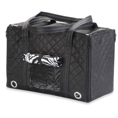 Sherpa® Park Small Pet Tote in Zebra Black