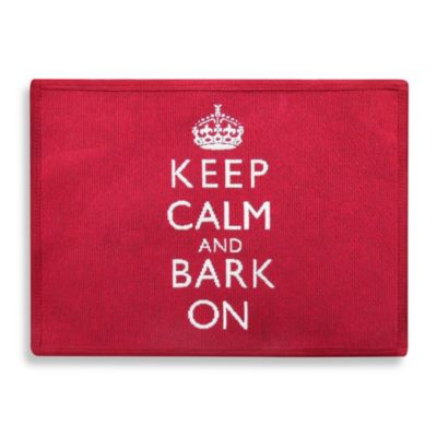 "Park B. Smith® ""Keep Calm and Bark On"" Tapestry Pet Mat in Red"
