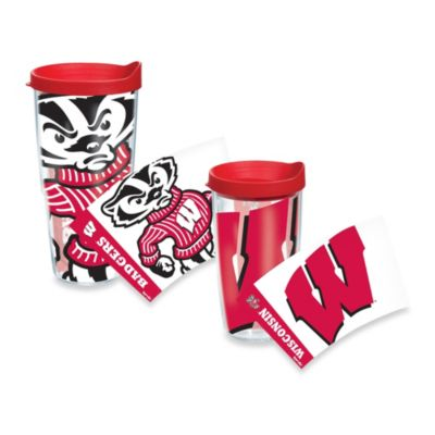 Tervis® University of Wisconsin Badgers Wrap Tumbler with Red Lid