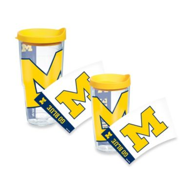 Tervis® University of Michigan Wrap Tumblers with Yellow Lid
