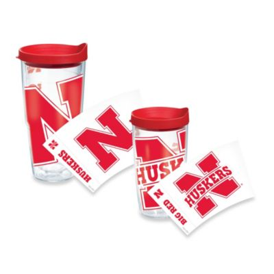 Tervis® University of Nebraska Huskers 16-Ounce Wrap Tumbler with Red Lid