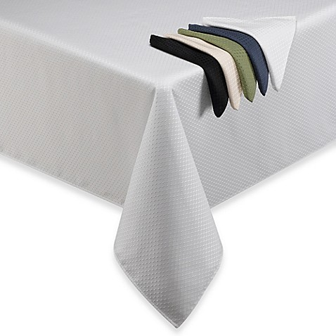 McKenna Microfiber Tablecloth and Napkins - BedBathandBeyond.