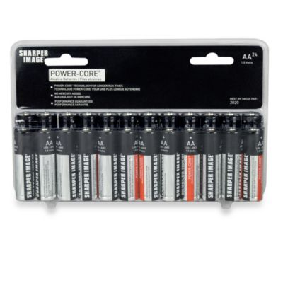 The Sharper Image® 24-Pack AA Alkaline Batteries