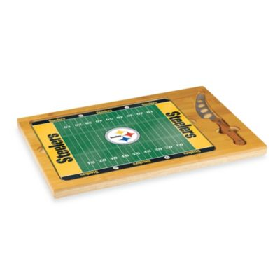 Picnic Time® NFL Pittsburgh Steelers Icon Wood Cutting Board Set