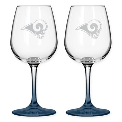 St.Louis Rams 12-Ounce Etched Wine Glass