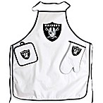 Oakland Raiders Apron and BBQ Set