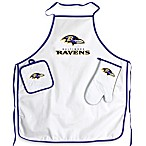 Baltimore Ravens Apron and BBQ Set