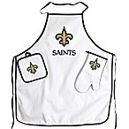 New Orleans Saints Apron and BBQ Set