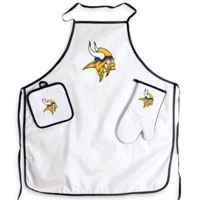 NFL Minnesota Vikings Apron and BBQ Set