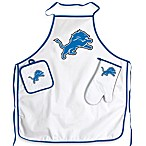 Detroit Lions Apron and BBQ Set