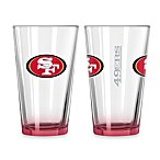 San Francisco 49ers 16-Ounce Elite Pint Beverage Glass (1 Glass)