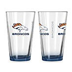 Denver Broncos 16-Ounce Elite Pint Beverage Glass (1 Glass)