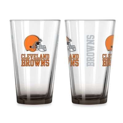 Cleveland Browns 16-Ounce Elite Pint Beverage Glass (1 Glass)