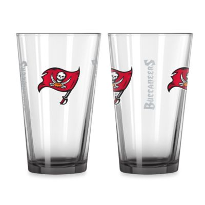 Tampa Bay Buccaneers 16-Ounce Elite Pint Beverage Glass
