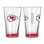 Kansas City Chiefs 16-Ounce Elite Pint Beverage Glass (1 Glass)