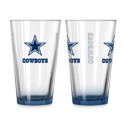 Dallas Cowboys 16-Ounce Elite Pint Beverage Glass (1 Glass)