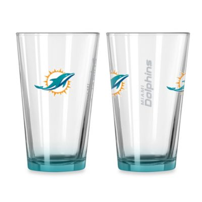 Miami Dolphins 16-Ounce Elite Pint Beverage Glass