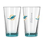 Miami Dolphins 16-Ounce Elite Pint Beverage Glass (1 Glass)