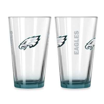 Philadelphia Eagles 16-Ounce Elite Pint Beverage Glass (1 Glass)