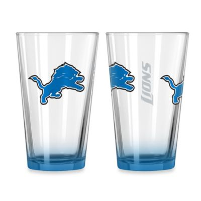 Detroit Lions 16-Ounce Elite Pint Beverage Glass